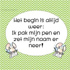 voor de groep: Zet je naam erop! School Info, Back 2 School, School Posters, School Hacks, Love My Job, Clip Art, Classroom, Teacher, Education