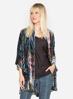 Frame Velvet Kimono Multi