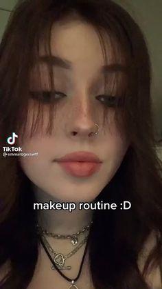 Grunge Makeup, Emo Makeup, Indie Makeup, Eye Makeup Art, Girls Makeup, Makeup Tutorial Eyeliner, Makeup Looks Tutorial, No Eyeliner Makeup, Skin Makeup