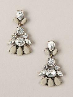 Delilah 18k Gold Crystal Statement Earrings