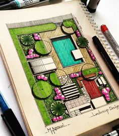 Interesting Find A Career In Architecture Ideas. Admirable Find A Career In Architecture Ideas. Landscape Model, Landscape Architecture Drawing, Landscape Sketch, Landscape Design Plans, Garden Design Plans, Landscape Drawings, Architecture Tools, Computer Architecture, Enterprise Architecture