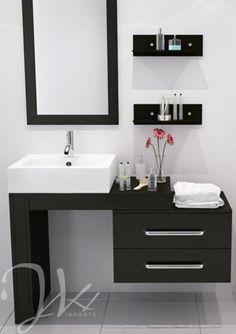 """33.5"""" to 57"""" Reversible Scorpio Bathroom Vanity. $899.00"""