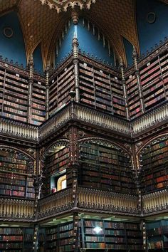 Royal Portuguese Reading Room in Rio De Janeiro Brazil Beautiful Library, Dream Library, Library Books, Libreria El Ateneo, Home Libraries, History Photos, Reading Room, Book Nooks, Book Lovers