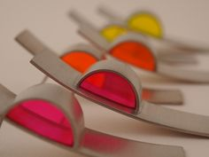 Neon Sculptural Earrings - Sarah McCurdie