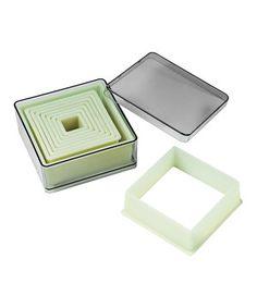 Love this Square 9-Piece Cutter Set by Fat Daddio's on #zulily! #zulilyfinds