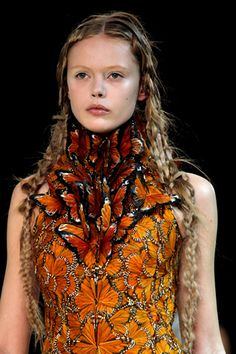 """Alexander McQueen - a genius - not that I could wear this but wow, such a moving piece here - so let's just call this """"Things I'd like to wear IF I were a supermodel."""""""