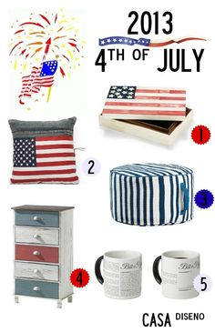 2013 Fourth of July Decor (Decorating) Must Haves #decorating #homedecor