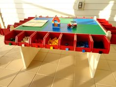 Lego table Kids Play table Lots of Storage Boys toy by nicilyn, $295.00