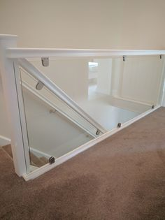 To keep up with modern interior design styles, glass balustrades are an excellent way of adding elegance and light to any home or business Railing Ideas, Staircase Ideas, Railing Design, Stair Railing, Glass Bannister, Glass Handrail, Glass Balustrade, Glass Stairs Design, Staircase Design Modern