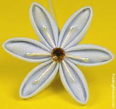 Folded Fabric Flowers - Spring Star flower at FoldingFlowers.com