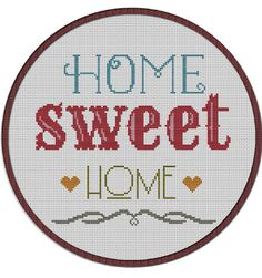 Instant download ,Mini cross stitch design ,Kawaii ,Cute,qutoe,home sweet home,cross stitch PDF