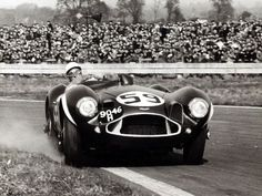 Stirling Moss. Aston DB3S. Goodwood 1956.