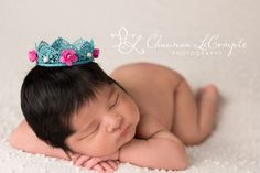 Roses In Bloom - Lace Pearl Crown Lace Vintage Crown Newborn Girl Photo Prop Photography Newborn Photo Prop by MiyahsCloset on Etsy