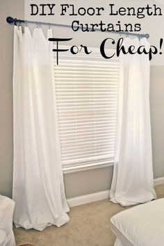 diy floor length curtains for cheap, crafts, reupholster, window treatments