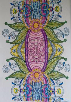 Gekleurd in de doezel techniek. Colour Board, Art Therapy, Wonders Of The World, Color Inspiration, Den, Holland, Coloring Books, Art Ideas, Arts And Crafts