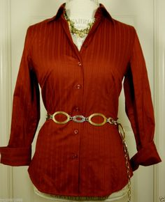 Brooks brothers womens no iron shirt size 8 red and for No iron white shirt womens