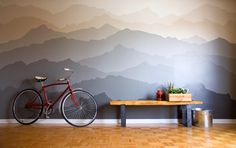 If you've got some skills with a paint brush, use your talent to turn your wall into an accent wall! With this design, you can wake up in the mountains every morning. A breathtaking before and after VIA Canadian artist Pam Lostracco:   Before  In progress    After  Timelapse video   Read mo...