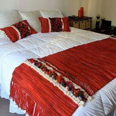 Weaving Art, Hand Weaving, Christmas Bedroom, Bed Runner, Quilt Bedding, Bed Spreads, Textile Design, Boho Decor, Bedroom Decor