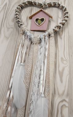 Wedding Decor White Beige Heart  Lace by DreamcatchersUA on Etsy