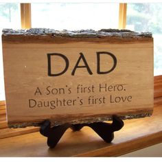 Bill Giyaman posted Rustic Handmade Wood Sign Dad A Son's First Hero, Daughter's First Love - to their -inspiring quotes and sayings- postboard via the Juxtapost bookmarklet. Fathers Day Crafts, Happy Fathers Day, I Love My Dad, First Love, Missing Dad, Talinda Bennington, Gifts For Dad, Great Gifts, Daddy Day
