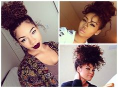 30 Best Curly Messy Buns Images Curls Natural Hair Curly Bob Hair