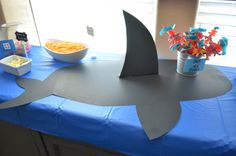 A Shark Infested Birthday Party - Finding Your Joy in the Journey Love this table setup for a shark birthday party Party Mottos, 3rd Birthday Parties, Pirate Birthday, Theme Parties, Shark Birthday Ideas, Creative Birthday Ideas, Party Themes For Boys, Baseball Birthday, Baseball Party