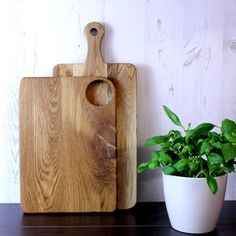 Pair Of Oak Chopping / Cheese Boards