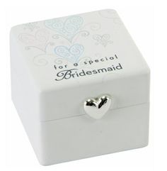 White Bridesmaid Trinket Box