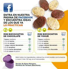 Mini bizcochitos de chocolate y mini bizcochitos de yogur