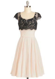 ModCloth Long Cap Sleeves A-line Breathtaking Belle Dress in Ivory