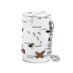 pepfer bag, insects, embroidery, butterflies, ants, gold, fly, ladybug, fashion, summer, birch