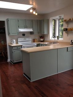 Painted Kitchen cabinets rustoleum meadow