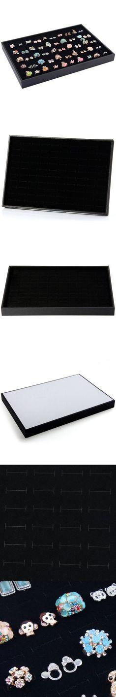 Elegant Ring Tray Jewelry Storage Box 100 Slots Ring Display Case Organizer - FREE SHIPPING - Price: $9.15 - Buy Now: https://ariani-shop.com/s/155484