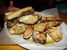 Charbroiled oysters at Uncle Bubba's Oyster House, Savannah