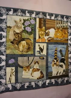 Koala's place - CrossStitch&Patchwork & Embroidery:  Tokyo International Great Quilt Festival - Part 7 (Original Design) | 2015 Tokyo International Great Quilt Festival. Cat quilt. Photo by Koala's Place.