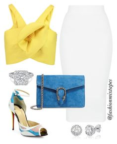 """""""Untitled #92"""" by divamanda on Polyvore featuring Delpozo, Christian Louboutin and Gucci"""