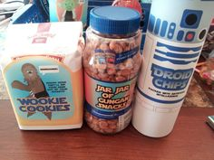 They made these for a Father's Day gift basket, but these ideas would also be great for a gift basket on other occasions or for a Star Wars theme birthday party!