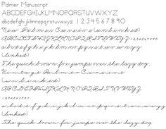 The Palmer Method of Business Writing, 1935 | Penmanship-Alphabets ...