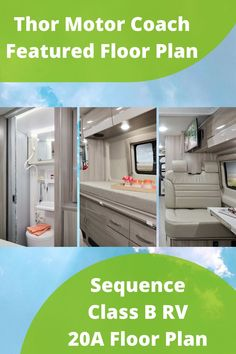 When style meets function. The Sequence 20A is as beautiful as it is equipped. This camper van has everything from a pull-out bed with under bed storage, to euro-style cabinets, RapidCamp+, Winegard Connect, and a Thule bike rack and accessories. Learn more and find one near you! Living Room Remodel, Rv Living, Home And Living, Living Spaces, Small Motorhomes, Class B Motorhomes, Thule Bike, Class B Rv, Pull Out Bed