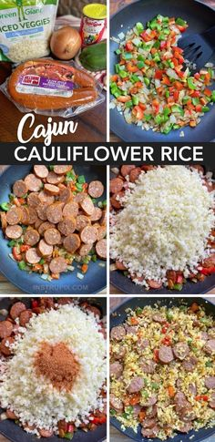 Easy Cajun Cauliflower Rice - Instrupix Best Picture For Keto Recipes For Your Taste You are looking Low Carb Dinner Recipes, Keto Dinner, Diet Recipes, Cooking Recipes, Healthy Recipes, Soup Recipes, Breakfast Recipes, Breakfast Ideas, Diet Breakfast