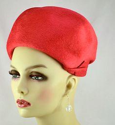 Elsa Schiaparelli Hats | Classic Elsa Schiaparelli Shocking Pink Beaver Fur Hat with Original ...