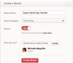 How to Create Secret Pinterest Boards
