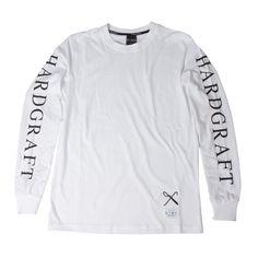 Hard Graft Long Sleeved T-shirt (white)