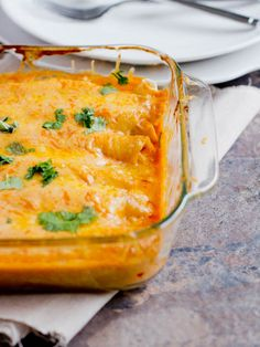 Bean And Cheese Smothered Enchiladas - Oh Sweet Basil