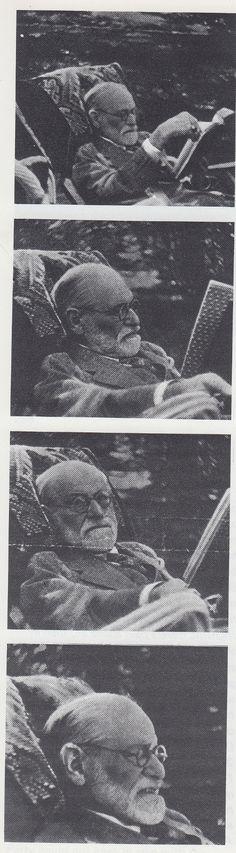 Sigmund Freud reading