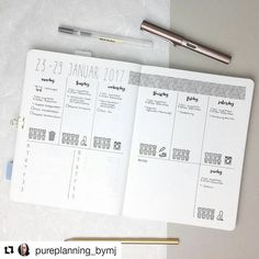#Repost @pureplanning_bymj with @repostapp ・・・ My layout for the next week. It's all about my master thesis because I want to finish the main part of writing . What's your big task for the upcoming week? Let me know . #bulletjournal#bujojunkies#bulletjournalcommunity#planner#plannercommunity#plannergirl#filofax#filofaxing#stationery#wearebujo#germanbujojunkies#plannerstamps#sweetstampshop#studiol2e#nuuna#notebook#minimalist#minimalism#travelernotebook#planwithmechallenge#minimalbujo#min.