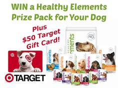 WIN a Healthy Elements Prize Pack for Your Dog + $50 Target Gift Card! woofwoofmama.com