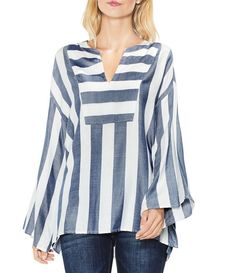 Two By Vince Camuto Bell Sleeve Striped Top #Dillards