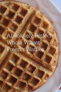 Perfect Whole Wheat Freezer Waffles