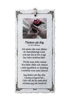 Tänker på dig - Diktkort 1 Swedish Language, Text Me, Family Quotes, Holidays And Events, Wise Words, Poems, Presents, Lettering, Verser